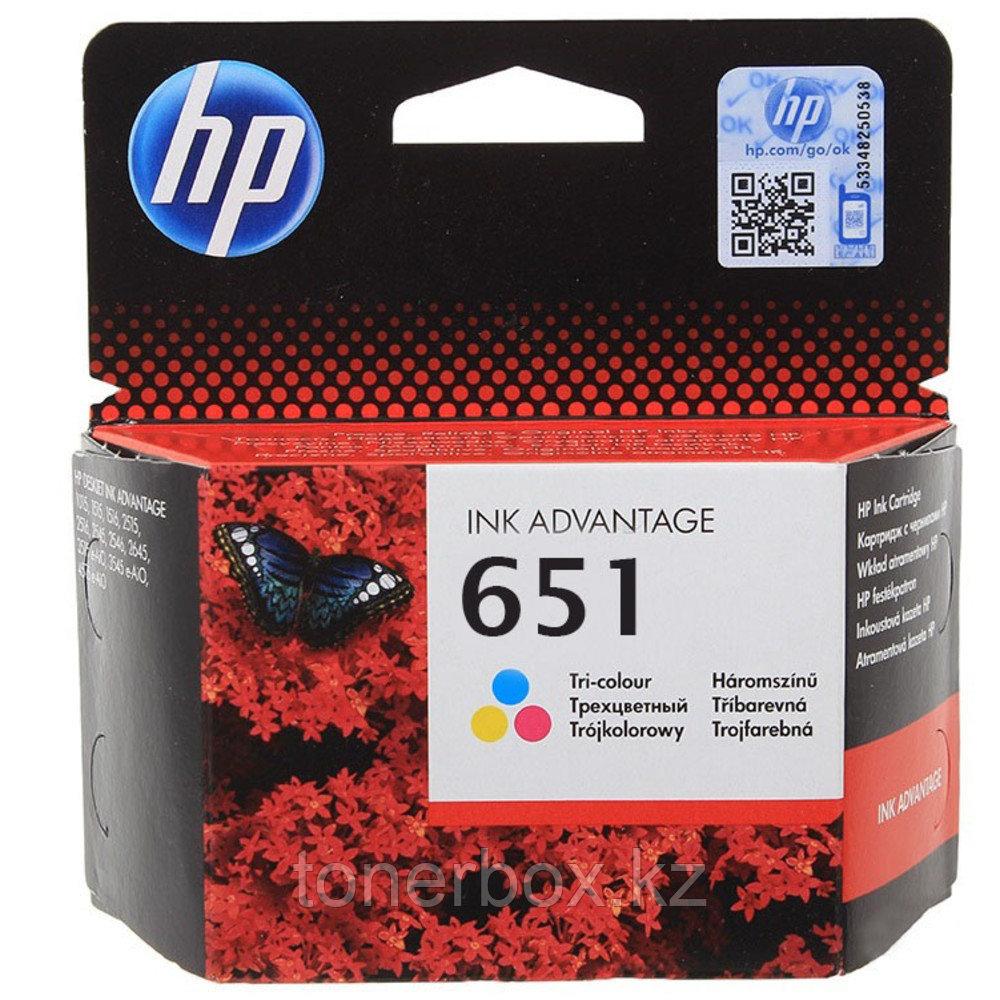 Струйный картридж HP 651 трехцветный C2P11AE