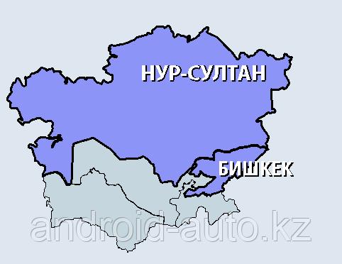 Вариант на USB - Карты Казахстана и Киргизии  2020 г. для LEXUS RX350 RX400h RX450h 2012-2016