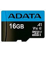 Карта памяти ADATA microSDHC,16GB, UHS-I Class 10 A1 + SD-adapter