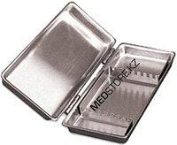 Лоток стоматологический с крышкой ЛМС-«Медикон», 195х90х25мм на 8 инстр. (сталь AISI 304)