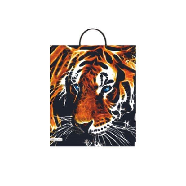 """Пакет с пластиковой ручкой ПВД 44х38 см, 90мкм, """"Тигр"""", 5 шт"""