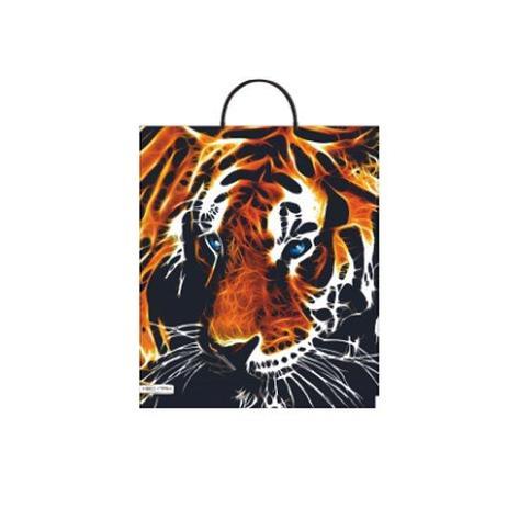 """Пакет с пластиковой ручкой ПВД 44х38 см, 90мкм, """"Тигр"""", 5 шт, фото 2"""
