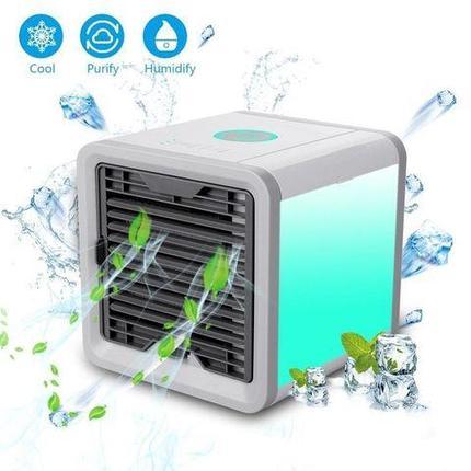 Охладитель воздуха  портативный ANTARCTIC AIR с RGB-подсветкой, фото 2