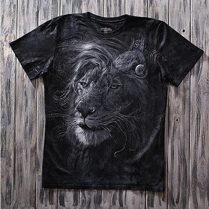 «Лев брутальный» тотальная футболка мужская, фото 2