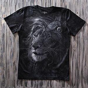 «Лев брутальный» тотальная футболка мужская