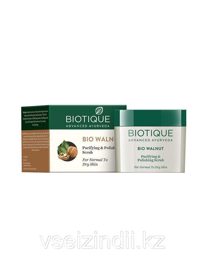 Скраб для лица Био Орех, Биотик (Bio Walnut, Biotique) 50 гр
