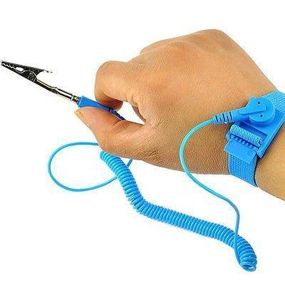 """Антистатический браслет со шнуром заземления длиной 2 м с зажимом """"крокодил"""", фото 2"""