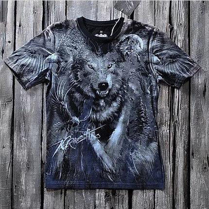 «Волк» тотальная футболка мужская, фото 2