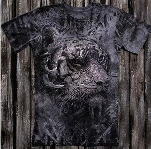 «Тигр брутальный» тотальная футболка мужская