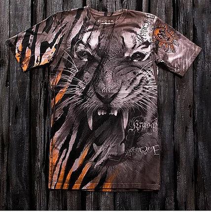 «Тигр африка» тотальная футболка мужская, фото 2