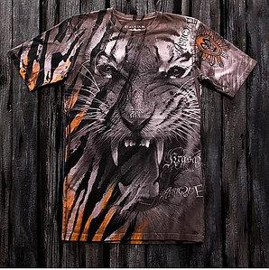 «Тигр африка» тотальная футболка мужская