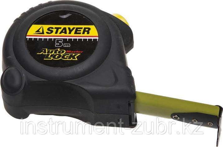 """Рулетка STAYER """"MASTER"""" """"AUTOLOCK"""", корпус с резиновым напылением, автостоп, 5мх25мм, фото 2"""