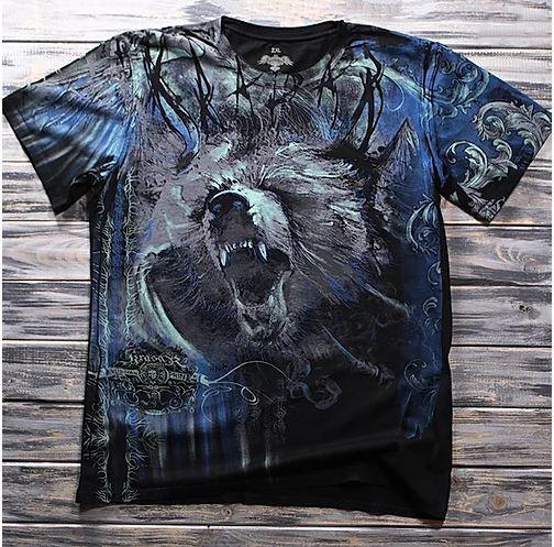 «Медведь» тотальная футболка мужская