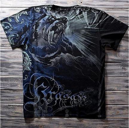 «Медведь» тотальная футболка мужская, фото 2