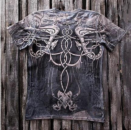 «Узор» тотальная футболка мужская, фото 2