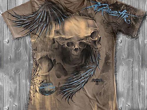 «Череп» тотальная футболка мужская, фото 2