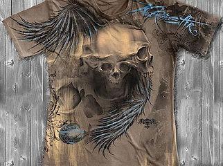«Череп» тотальная футболка мужская