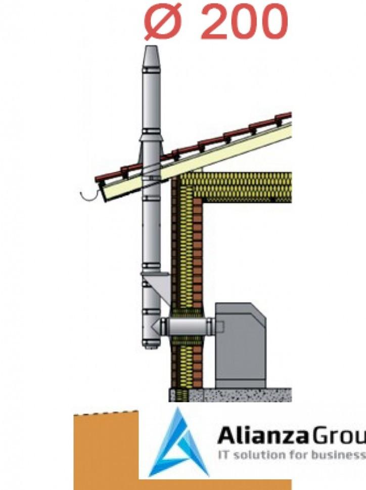 Настенный комплект дымохода Schiedel Permeter - внутр. ? 200 мм