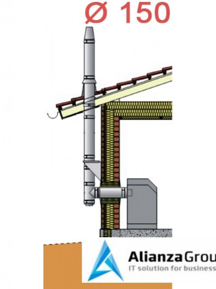 Настенный комплект дымохода Schiedel Permeter - внутр. ? 150 мм