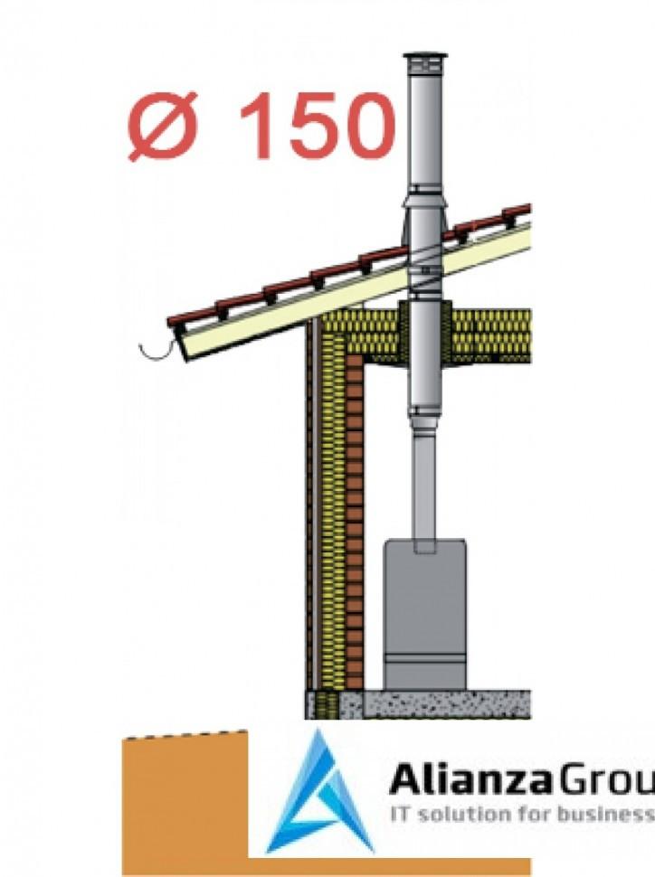 Насадной комплект дымохода Schiedel Permeter - внутр. ? 150 мм