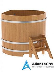 Купель для бани и сауны Bentwood угловая из лиственницы (1,31Х1,31 H=1,10)