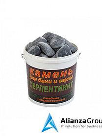 Камень серпентинит шлифованный (Ведро 20 кг.)