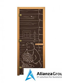 Дверь для бани/сауны LK ДС Бронза Мишка 1900х700мм (3 петли)