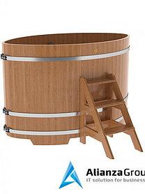 Купель для бани и сауны Bentwood овальная из дуба (1,15Х1,83 H=1,20)