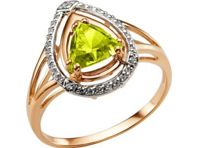 Золотое кольцо Династия 003321-1262_18 (Султанит)