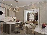 Дизайн интерьера кухни и гостиной
