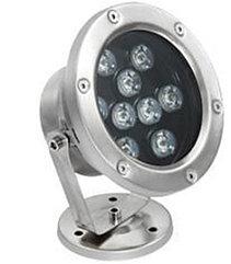 Подводные светильники для бассейнов и фонтанов 9Вт - RGB (1м провод)