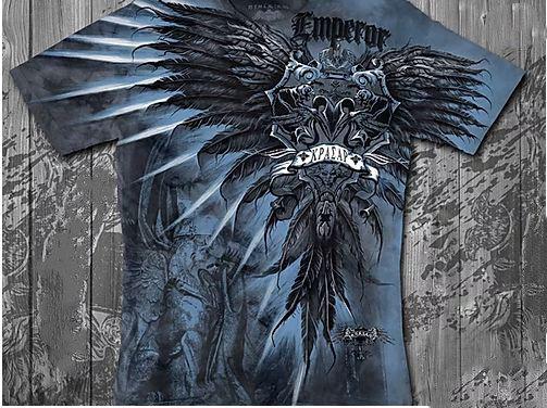 «Империя синяя» тотальная футболка мужская, фото 2