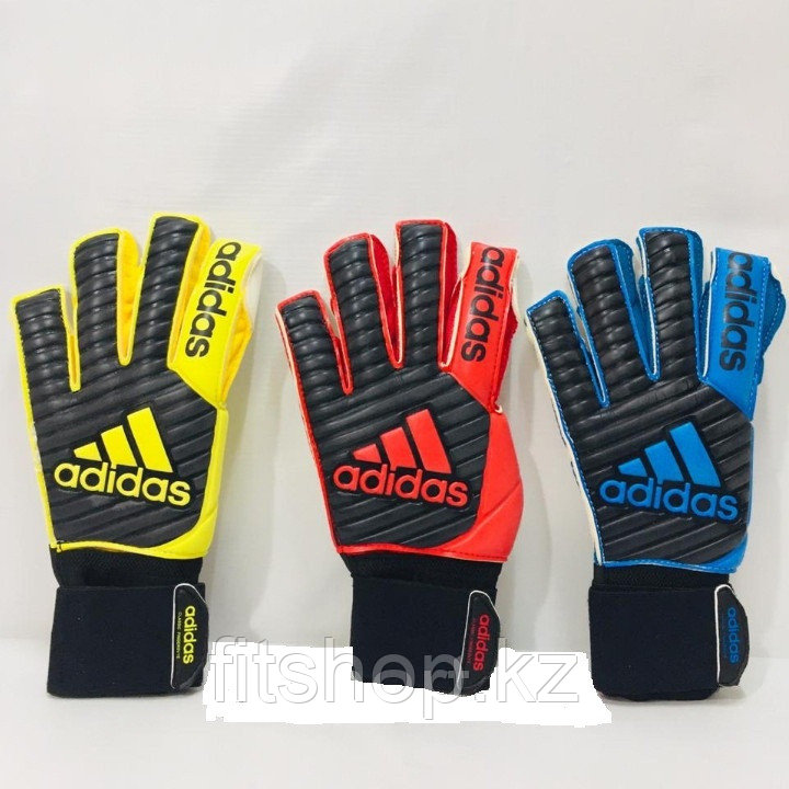 Перчатки вратарские Adidas Predator PRO желтые, синие размер 7 - фото 2