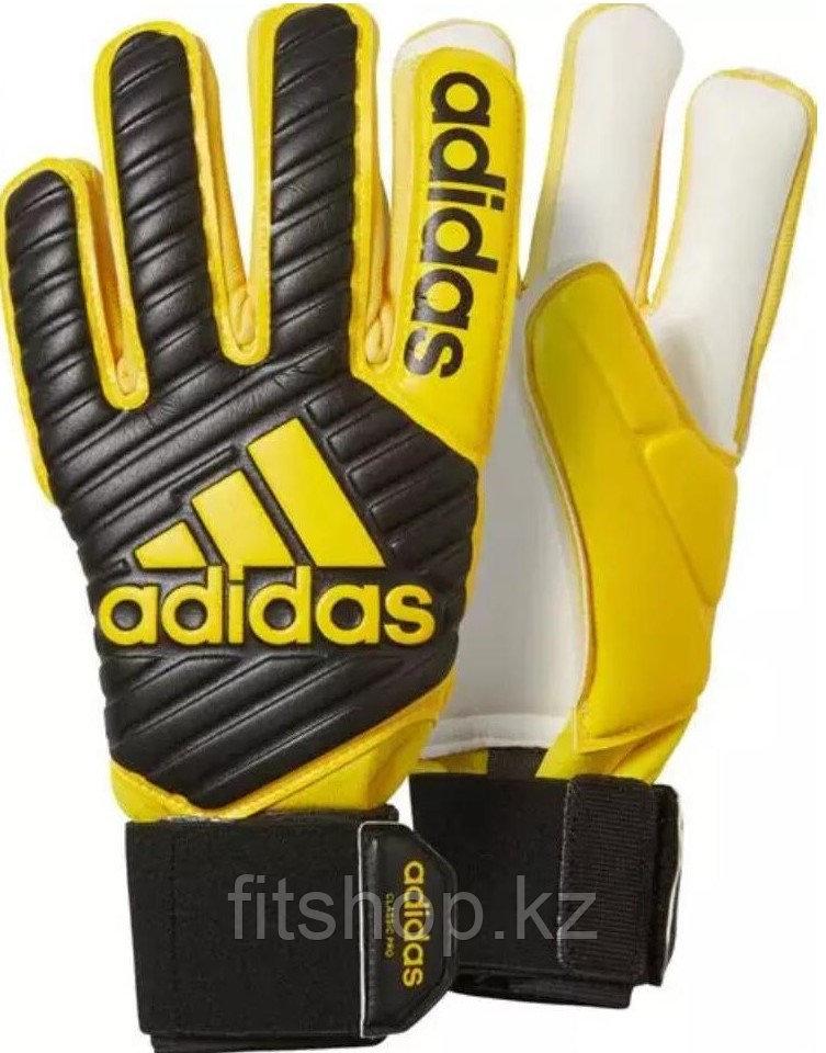 Перчатки вратарские Adidas Predator PRO желтые, синие размер 7 - фото 1