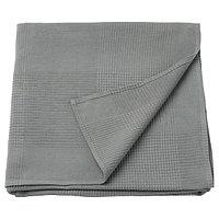 Покрывало ИНДИРА 230х250 серый ИКЕА, IKEA, фото 1