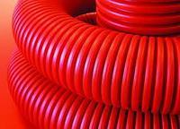 Двустенная труба ПНД гибкая для кабельной канализации с протяжкой д 125