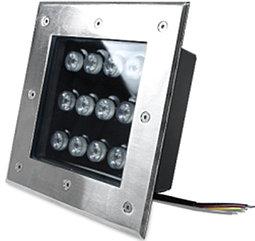Грунтовый светодиодный светильник 12Вт Теплый белый
