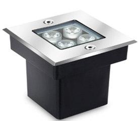 Грунтовый светодиодный светильник 4Вт Теплый белый