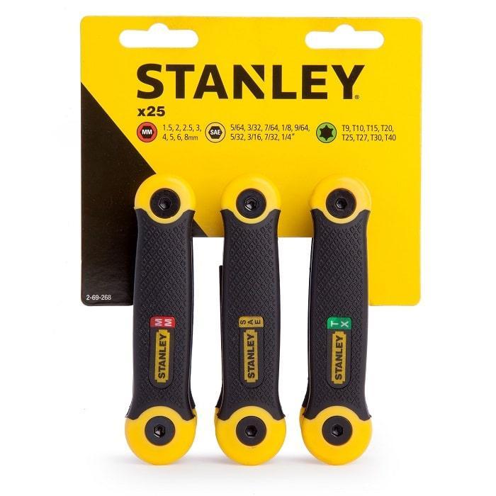 Комплект наборов ключей торцевыx Stanley 2-69-268  (STANLEY, 2-69-268, КОМПЛЕКТ ИЗ 25-ТИ ТОРЦЕВЫХ ШЕСТИГРАННЫХ