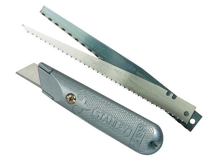 Нож Stanley Interlock 19 мм 140 мм 0-10-129 (STANLEY, 0-10-129,  НОЖ С ФИКСИРОВАННЫМ ЛЕЗВИЕМ СО СМЕННЫМИ
