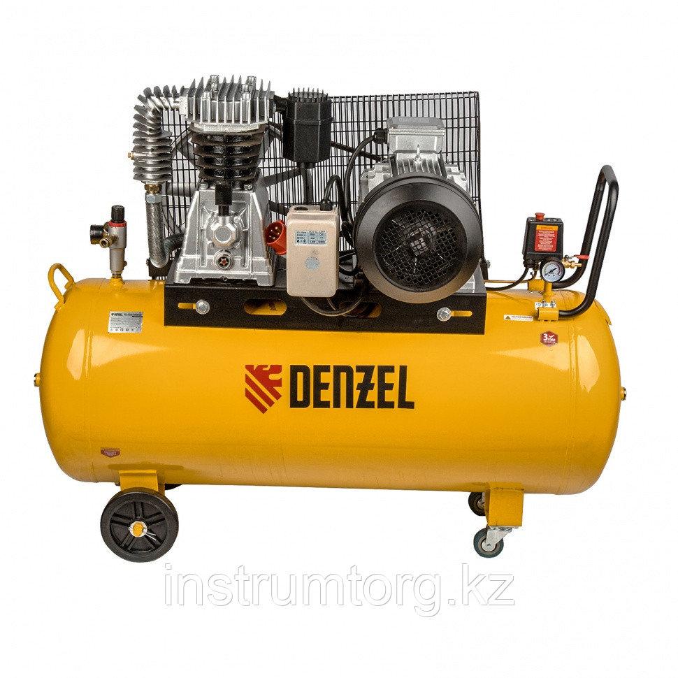 Компрессор DR5500/200 масляный ременный 10 бар, произв. 850 л/м, мощность 5,5 кВт// Denzel