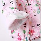 Ветровка с единорогами,цвет розовый 110 см, фото 4