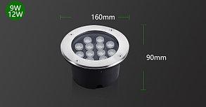Грунтовый светодиодный светильник 12Вт - Теплый белый