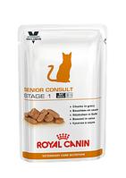Royal Canin Senior Consult Stage1 в соусе, влажный корм для котов и кошек старше 7 лет без признаков старения, фото 1