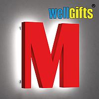 Объемные буквы с двойным свечением контураж + лицевое свечение