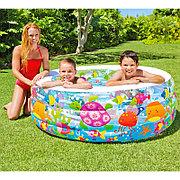 """Детский надувной бассейн """"Аквариум"""" 152x56 cм, Intex 58480"""