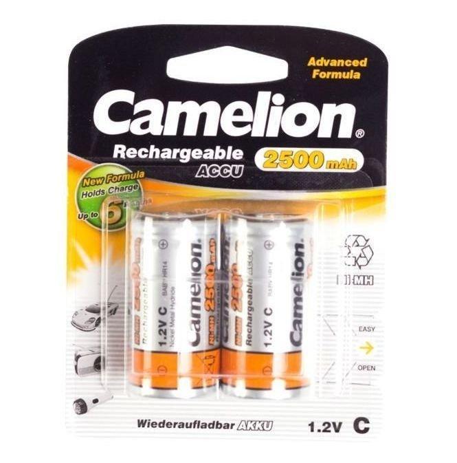 Аккумуляторная батарейка Camelion C NH-C2500BP2, Rechargeable, 1.2V (2 шт.)