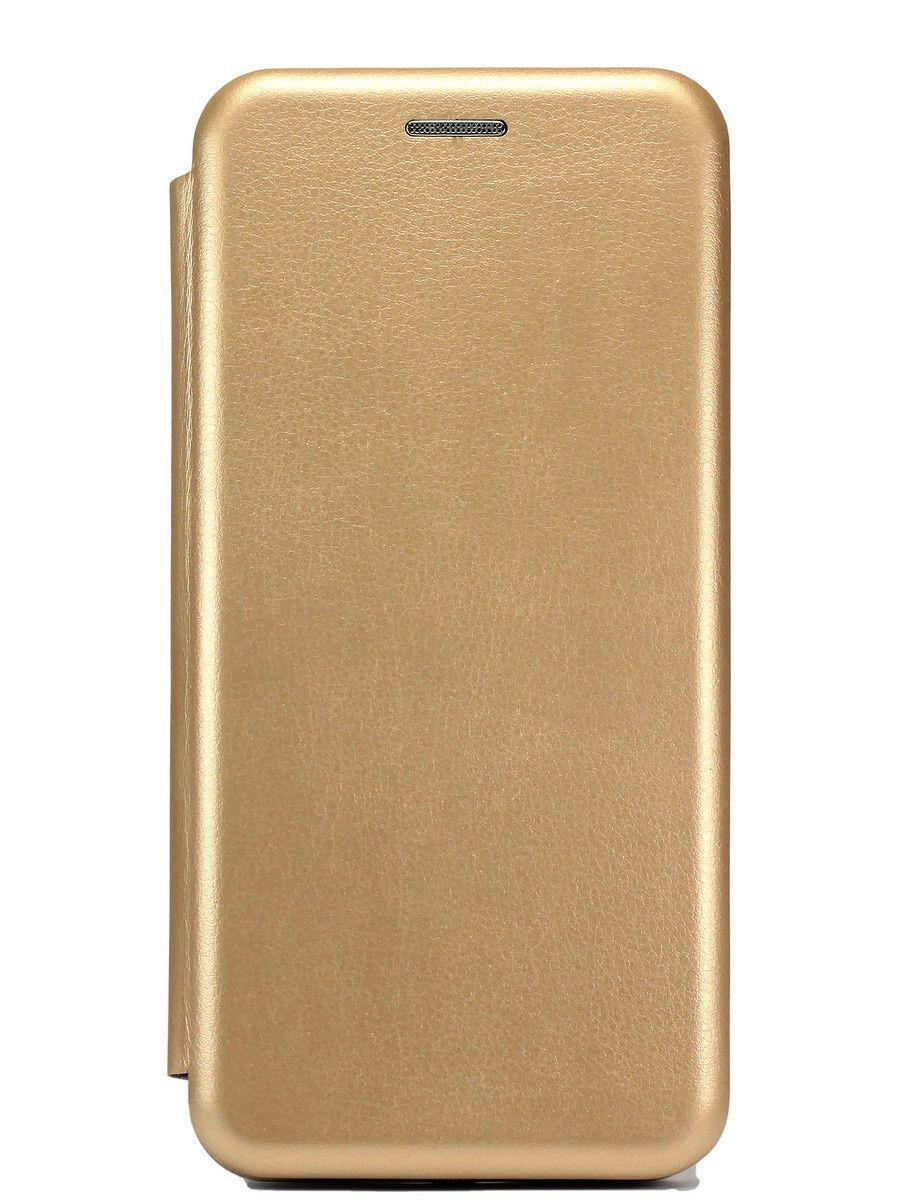 Кожаный книжка-чехол Open case для Samsung Galaxy A01 (Золотистый)