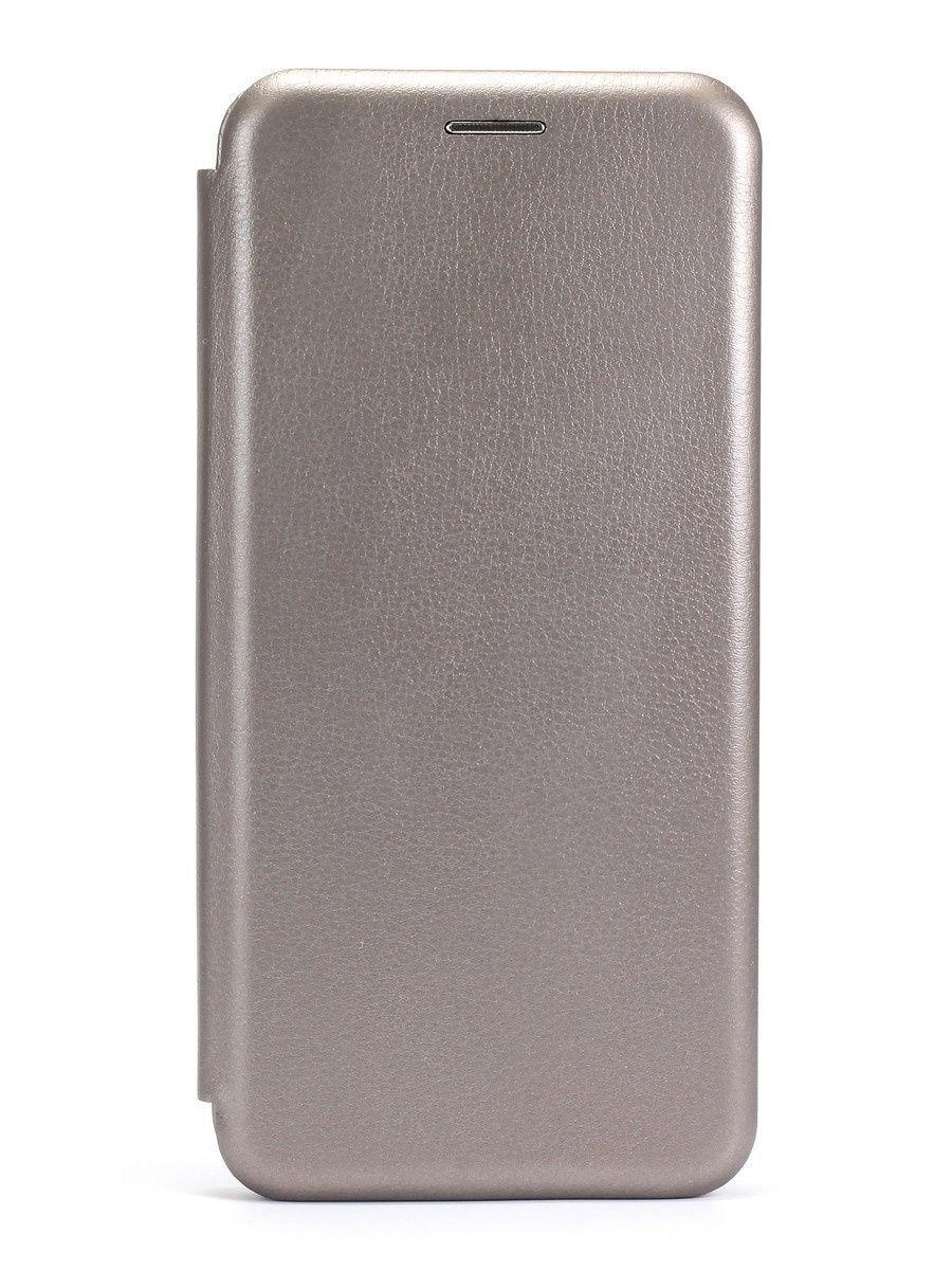 Кожаный книжка-чехол Open case для Samsung Galaxy A01 (Серый)