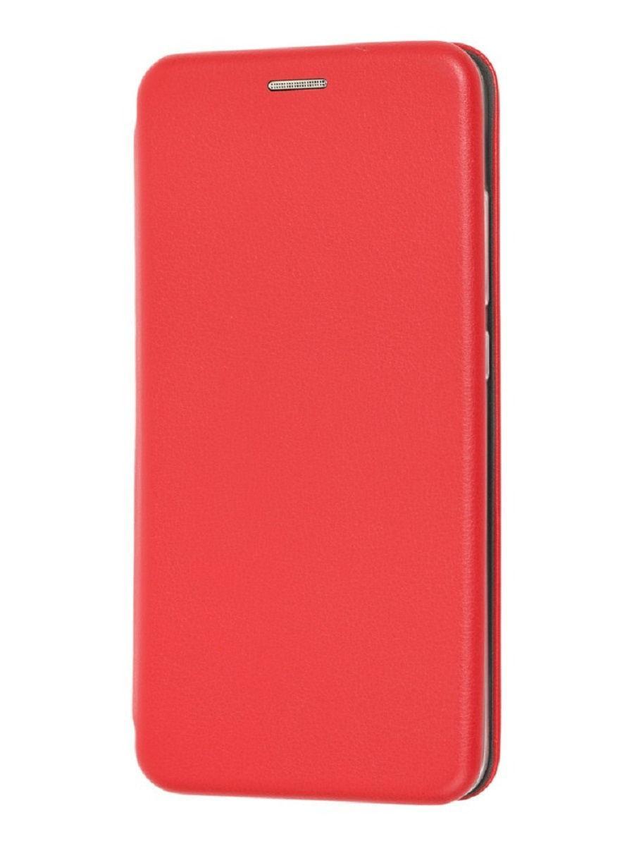 Кожаный книжка-чехол Open case для Samsung Galaxy A20s (Красный)